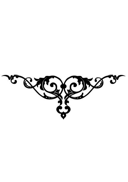 Stickers baroque noir clairage de la cuisine - Stickers baroque pour meuble ...